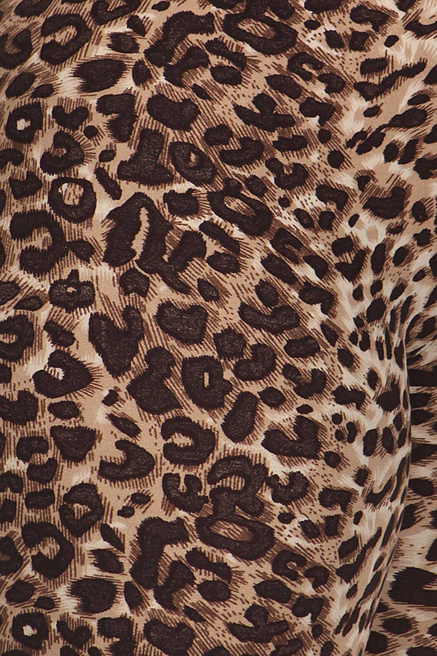 Close up fabric image of Buttery Soft Feral Cheetah Plus Size Leggings