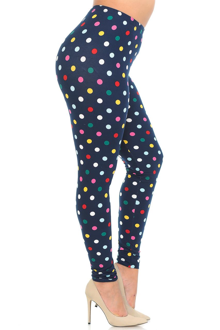 Buttery Soft Colorful Polka Dot Plus Size Leggings