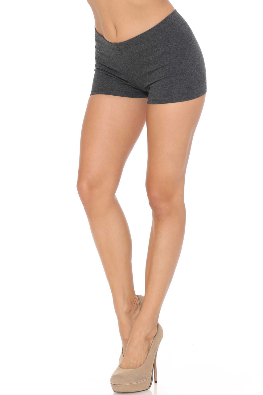 Left side of Charcoal USA Cotton Boy Shorts