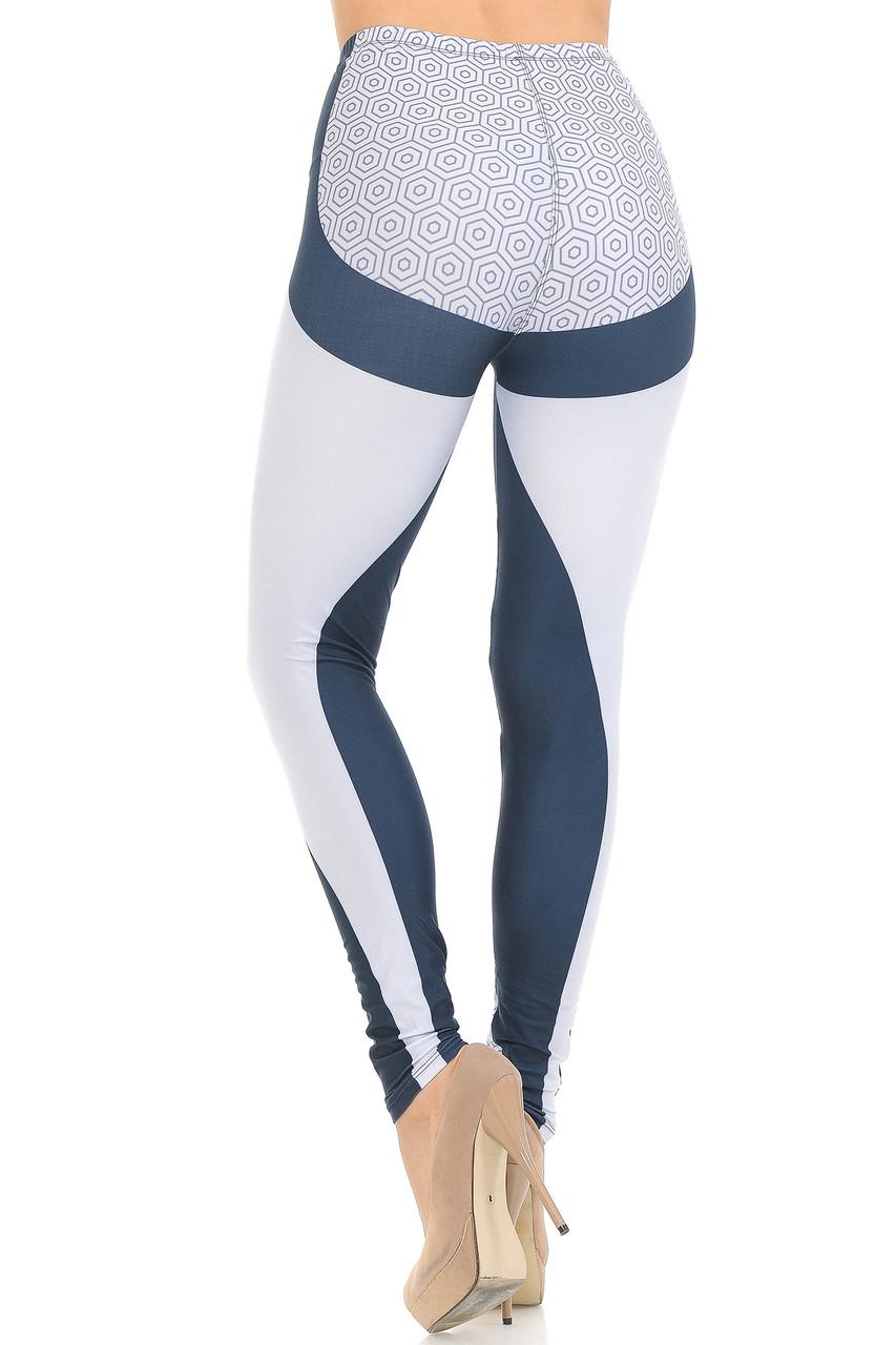 Back view of Creamy Soft Contour Curves Leggings - USA Fashion™