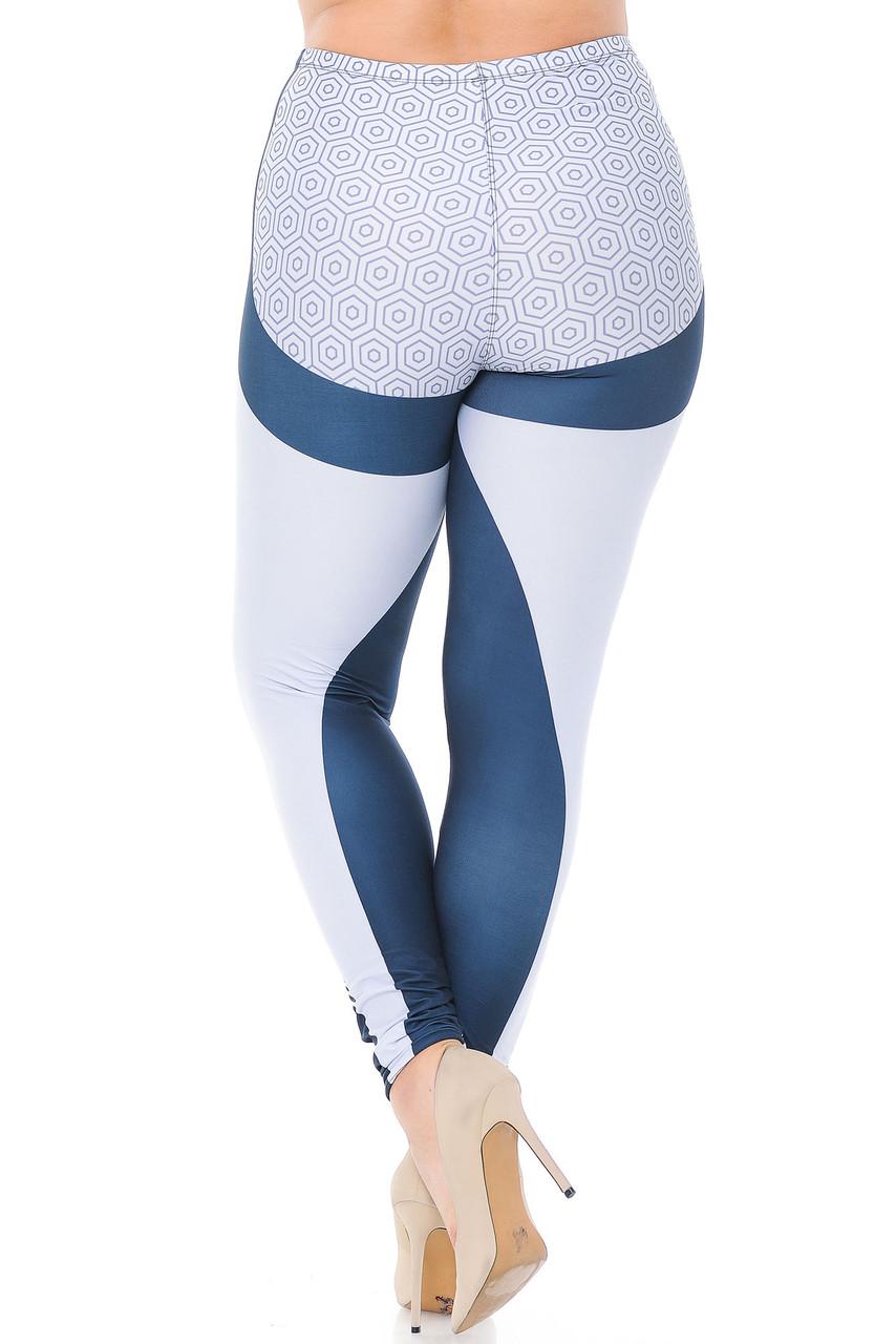 Back view of Creamy Soft Contour Curves Plus Size Leggings - USA Fashion™