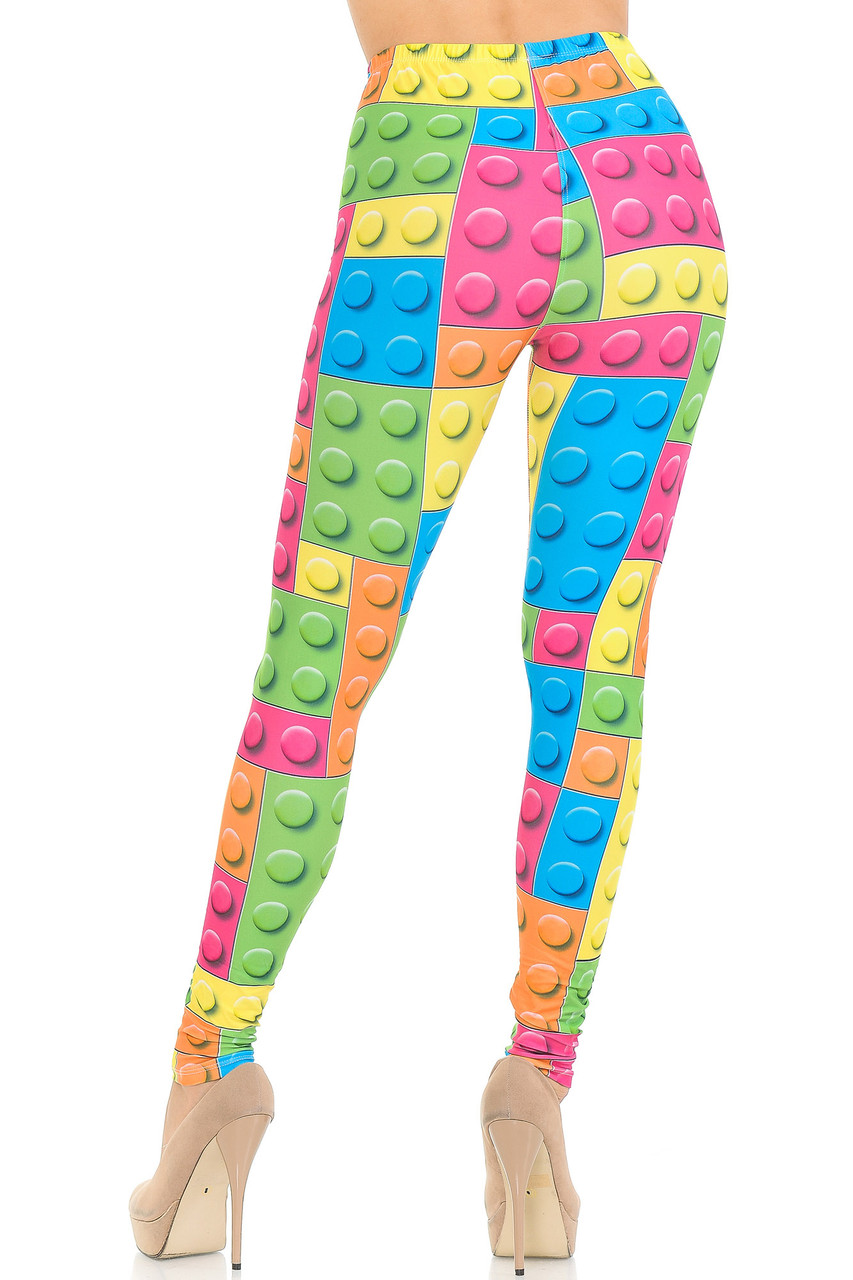 Rear view image of our figure flattering body hugging Creamy Soft Lego Extra Small Leggings - USA Fashion™