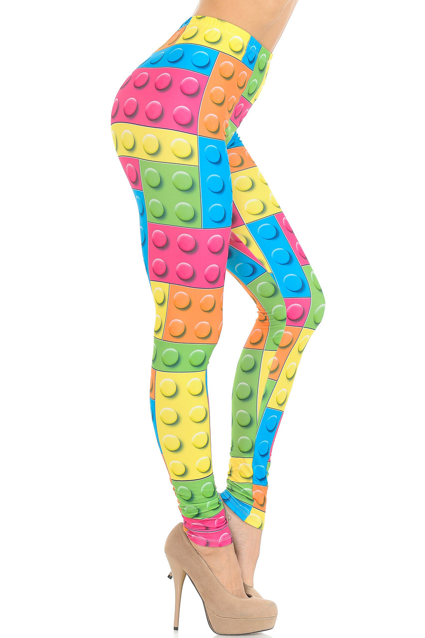 Right side view of Creamy Soft Lego Extra Small Leggings - USA Fashion™