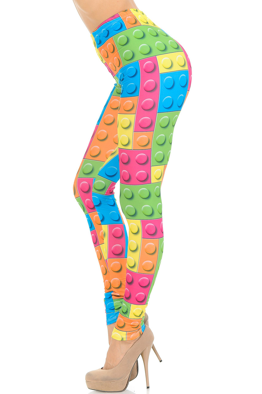 Left side view of Creamy Soft Lego Extra Small Leggings - USA Fashion™