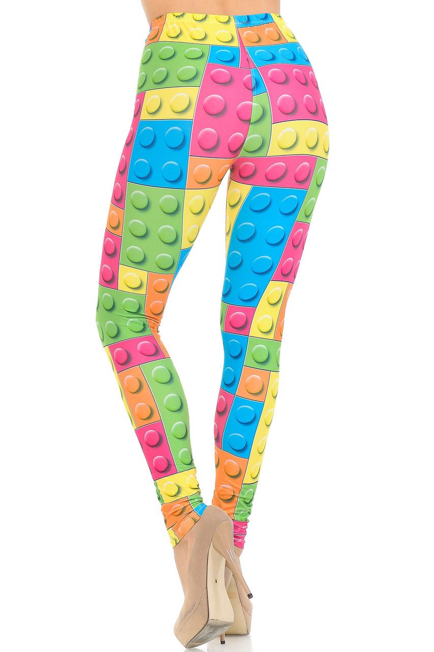 Back view image of Creamy Soft Lego Extra Small Leggings - USA Fashion™