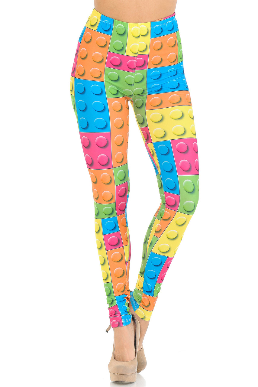 Front view of Creamy Soft Lego Extra Small Leggings - USA Fashion™