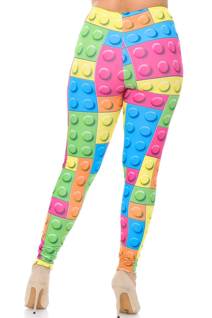 Back view image of Creamy Soft Lego Plus Size Leggings - USA Fashion™
