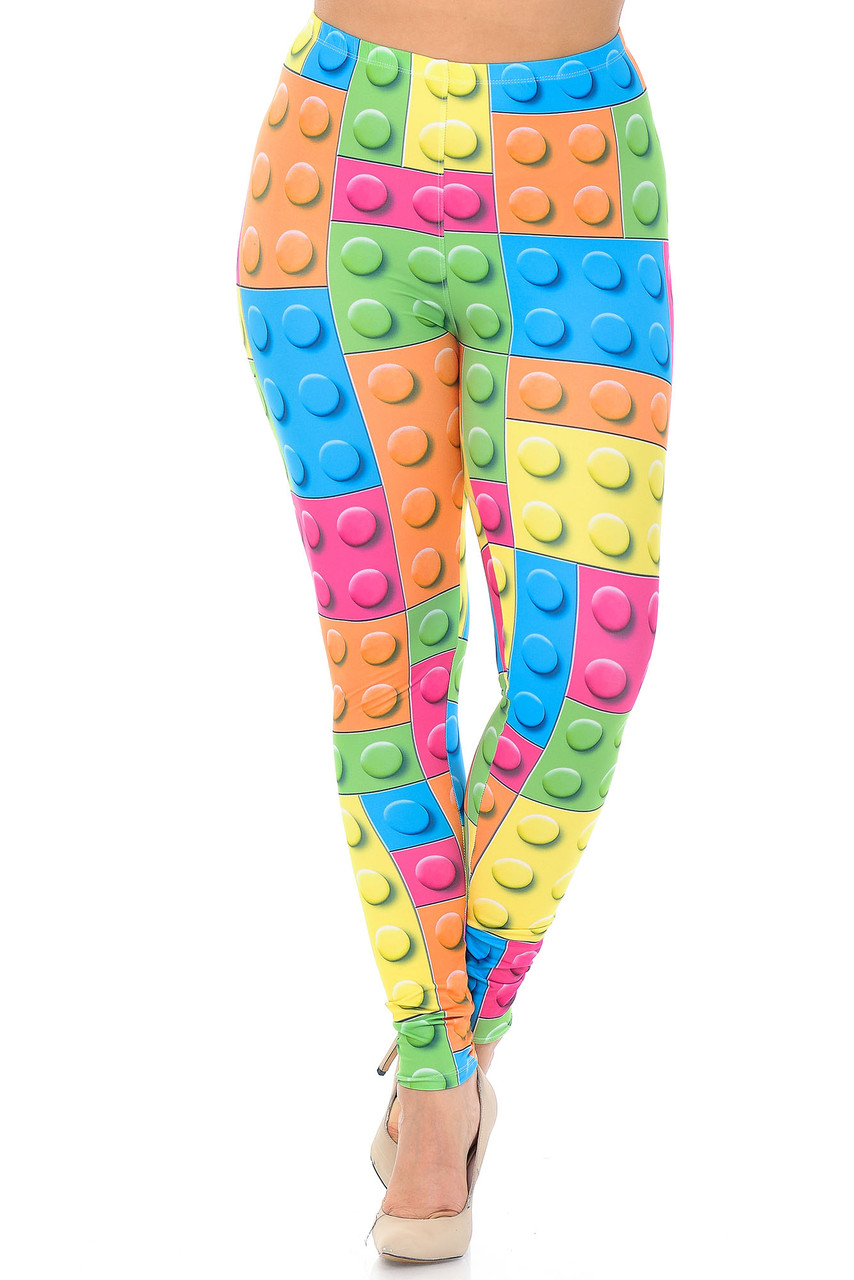 Front view of Creamy Soft Lego Plus Size Leggings - USA Fashion™