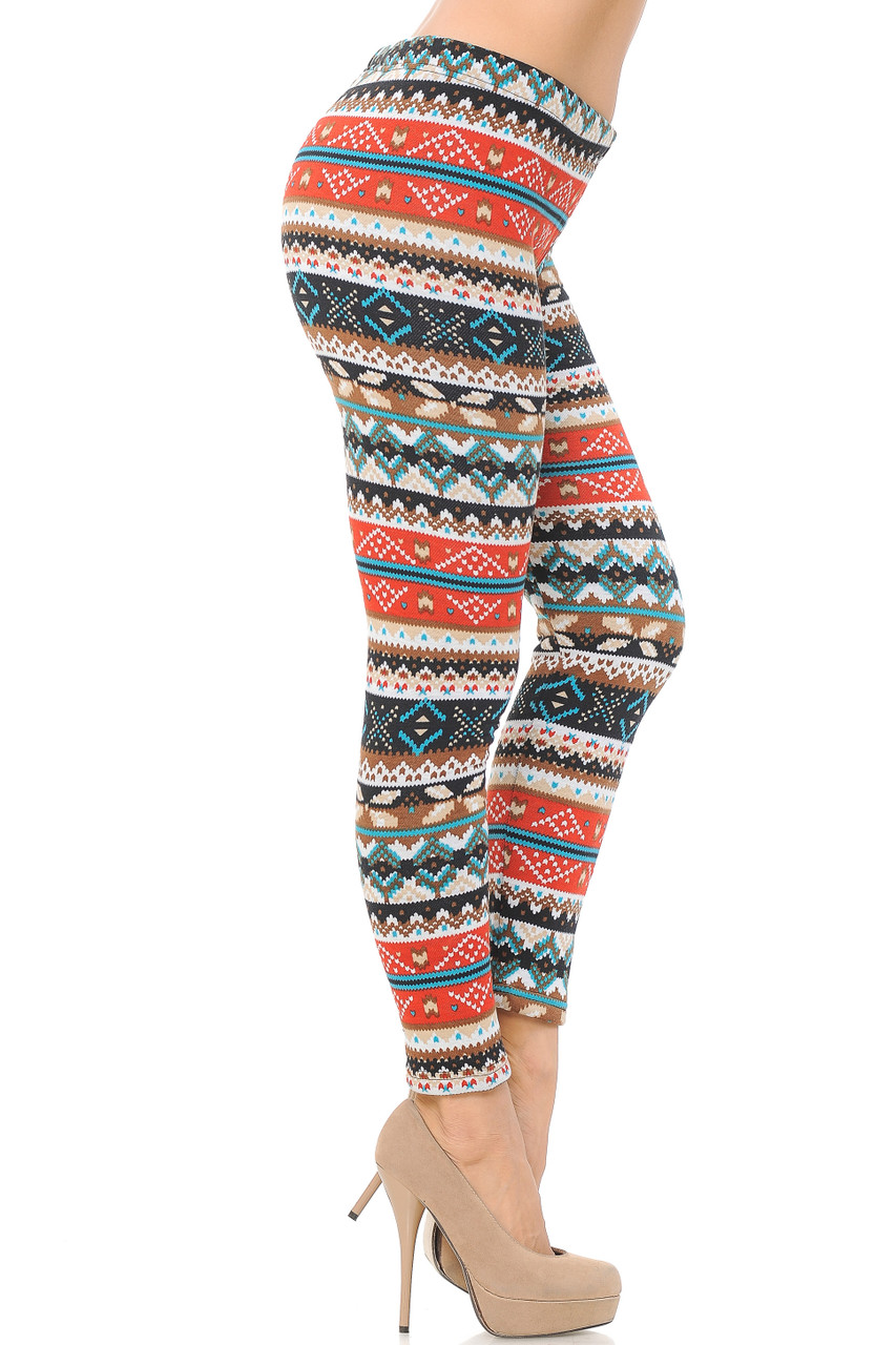 Right side view image of Winter Escapade Fur Lined Leggings