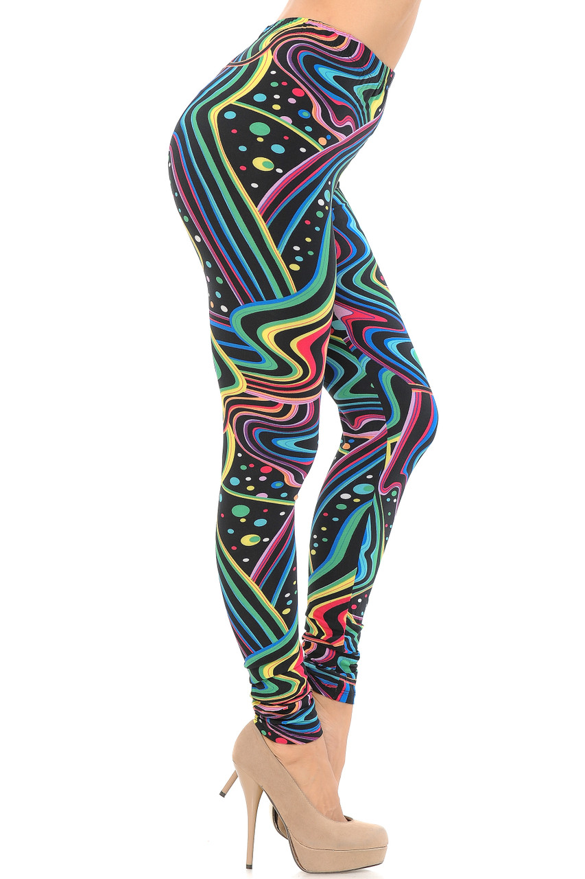 Right side view image of Buttery Soft Rainbow Bash Leggings