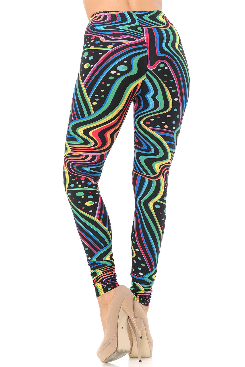 Back view image of Buttery Soft Rainbow Bash Leggings