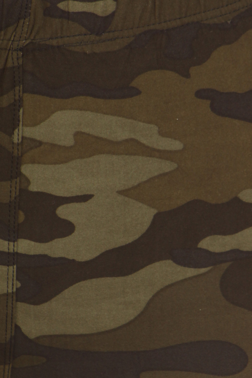 Close up image swatch of Camouflage Fleece Lined Plus Size Winter Leggings
