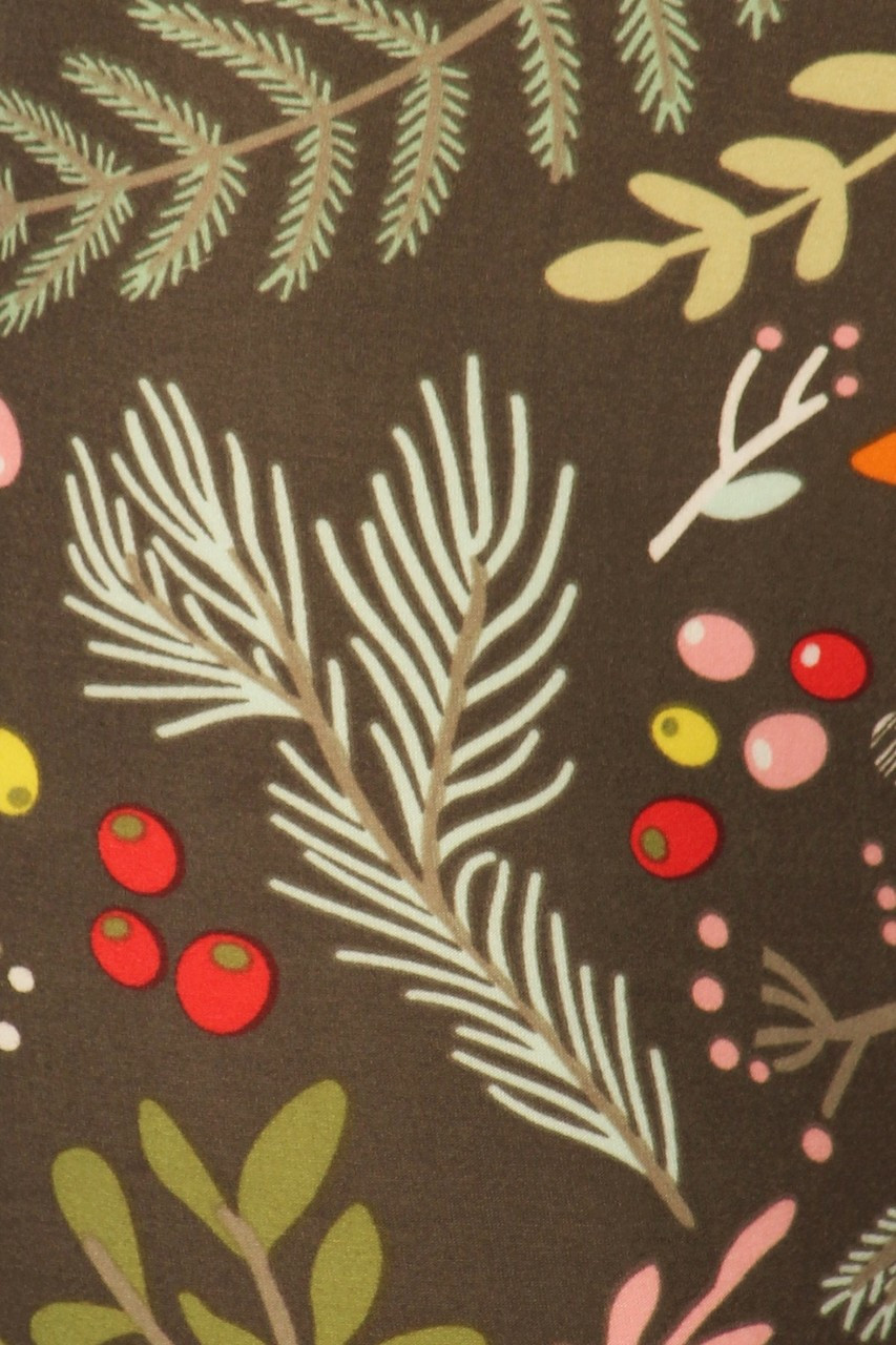Close up swatch of Buttery Soft Olive Garden Leggings