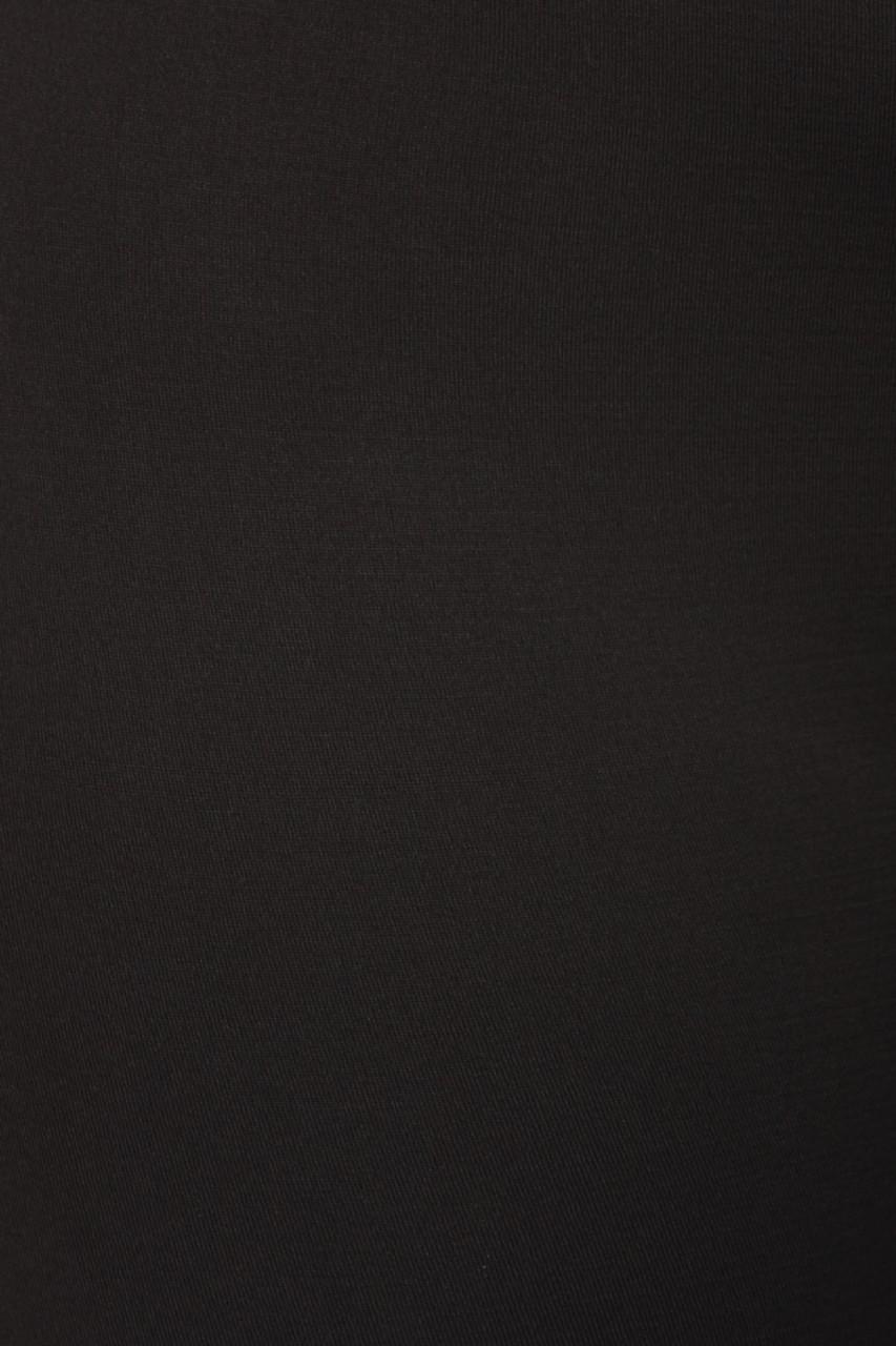 Close-up fabric image of  black Premium Women's Fleece Lined Plus Size Leggings