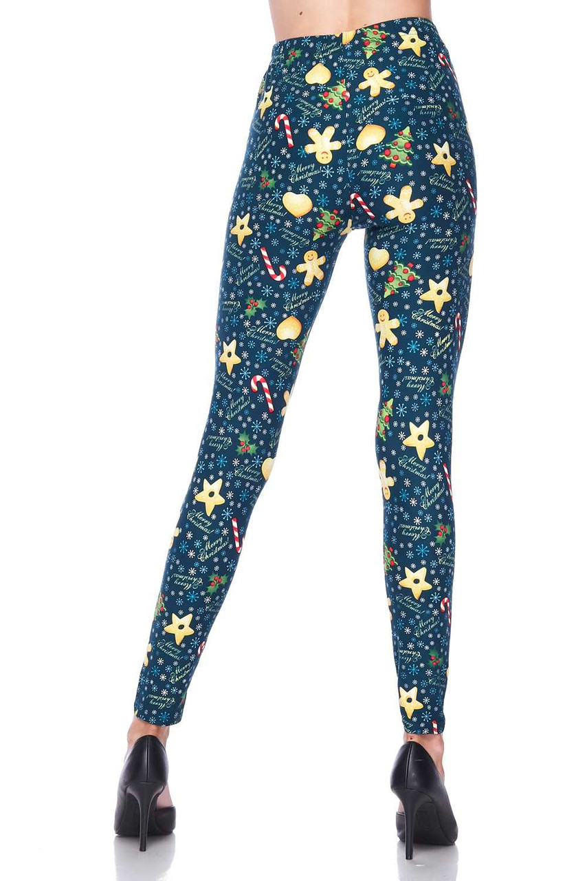 Back view image showcasing the body hugging fit of Buttery Soft A Very Merry Christmas Leggings