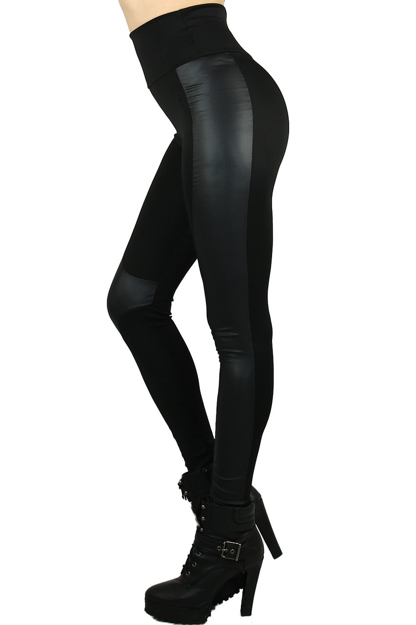 These Gotham Faux Leather High Waisted Leggings that pair with a top of any color or style for any season.