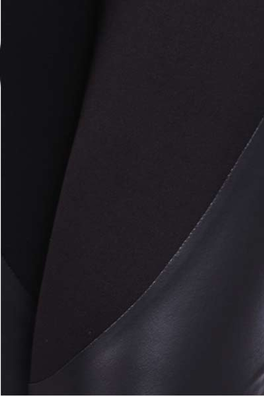 Close up swatch of Black Gotham Faux Leather High Waist Leggings