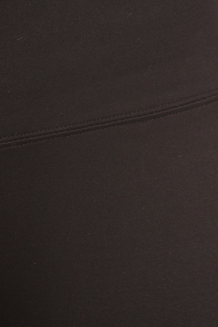 Close up swatch of black Fleece Lined High Waisted Sport Leggings