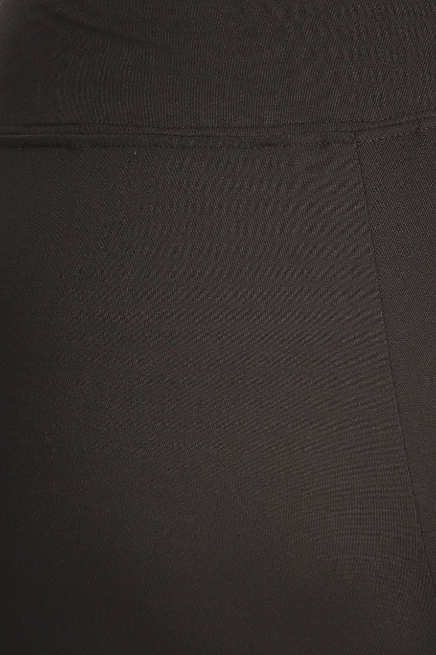 Brushed close-up fabric image of X7L105 - High Waisted Fleece Lined Sport Plus Size Leggings