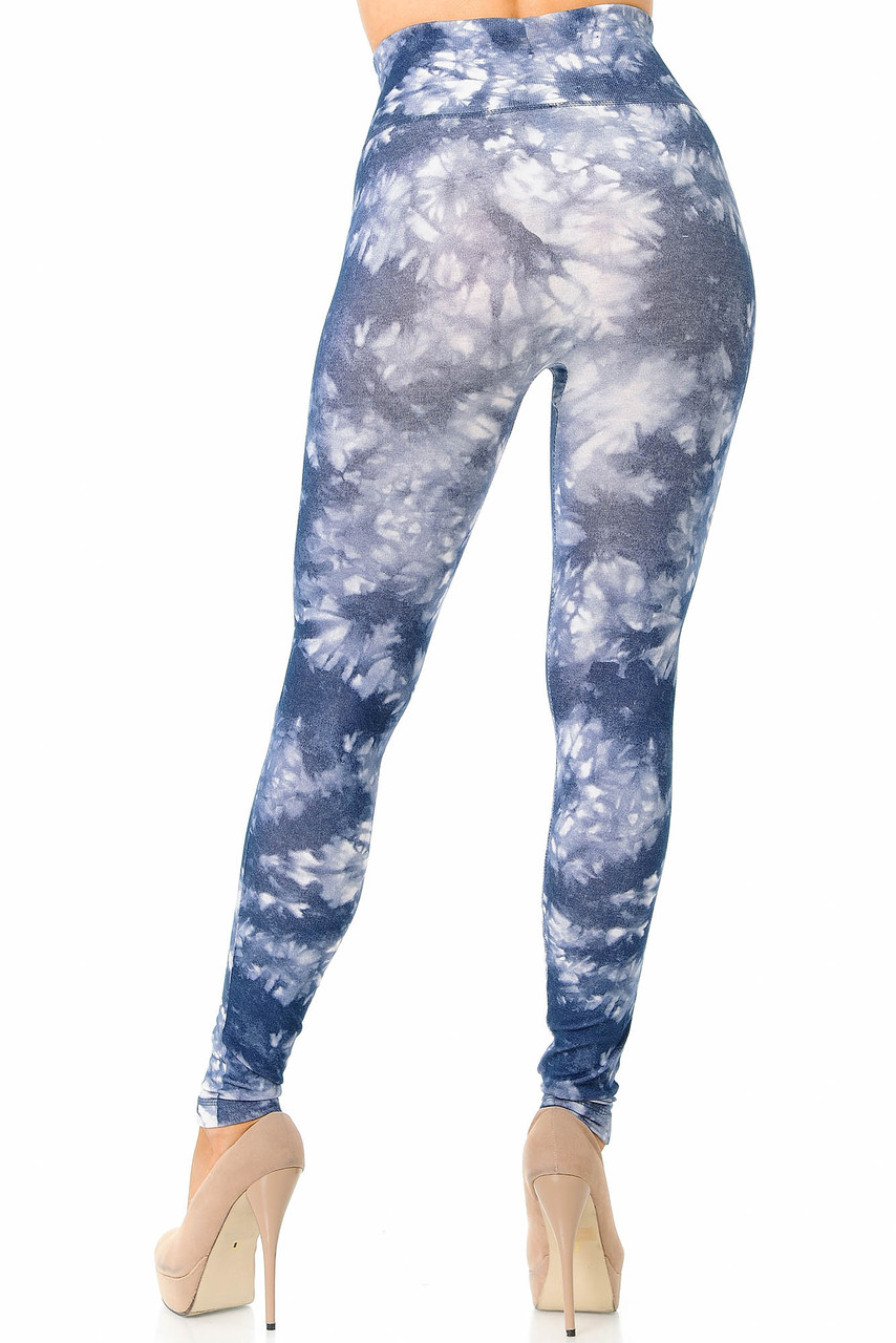 Rear view image of charcoal Tie Dye High Waisted Leggings
