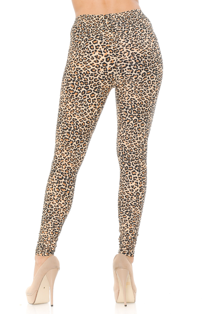 Our Buttery Soft Savage Leopard Extra Plus Size Leggings feature a super flattering body hugging fit.