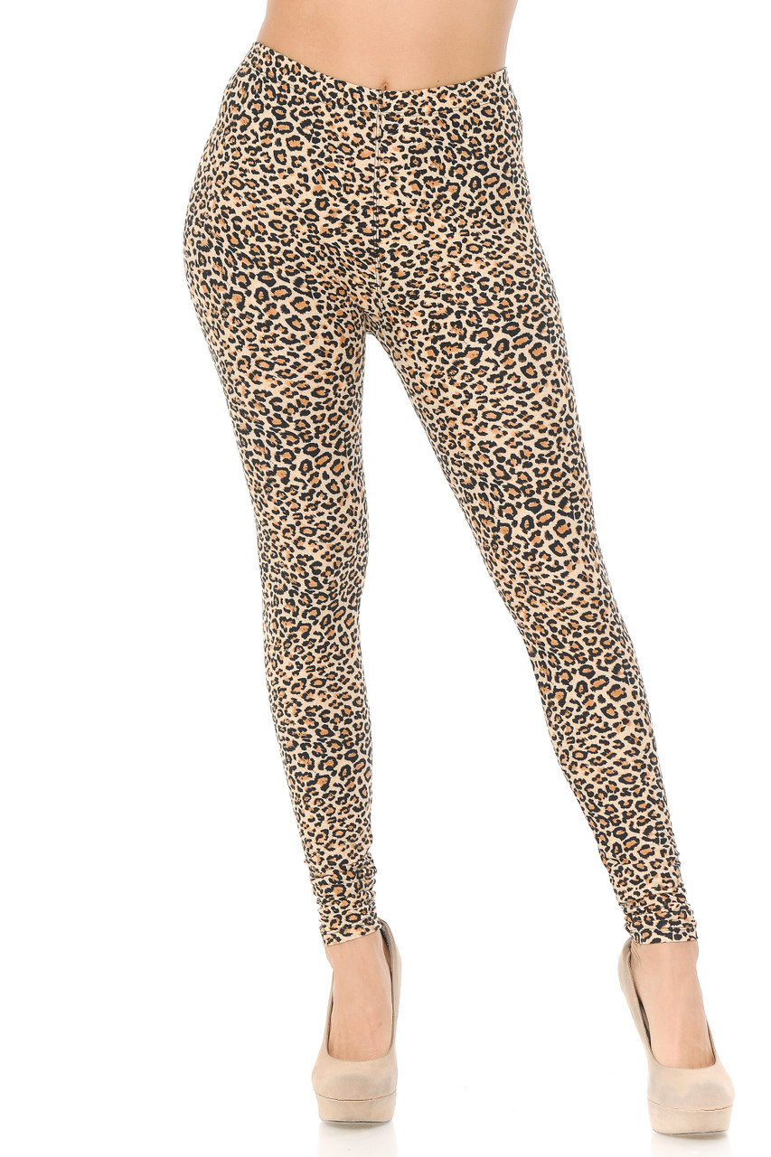These full length skinny cut Buttery Soft Savage Leopard Extra Plus Size Leggings pair with a top of any color, dressy or casual.