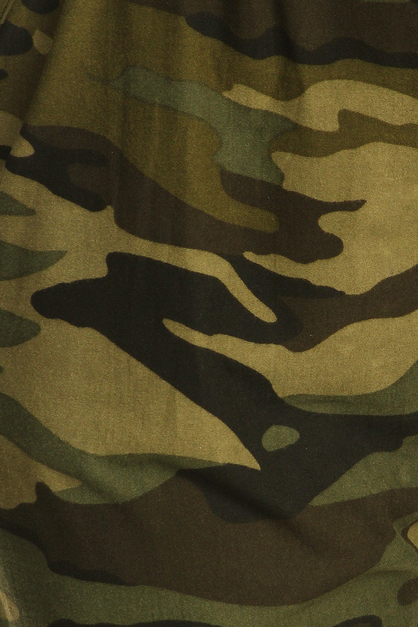 Close up swatch of Buttery Soft Olive Camouflage Joggers - EEVEE