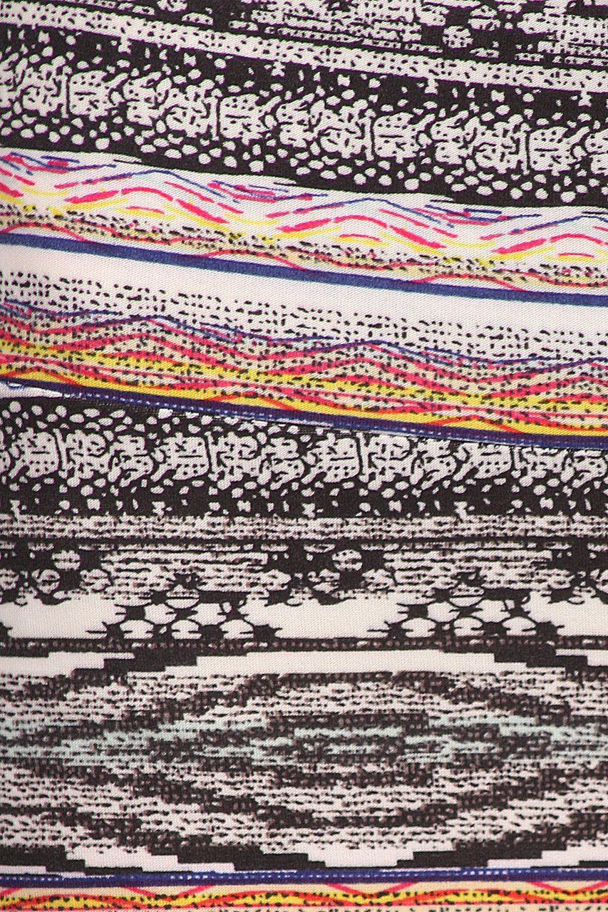 Close up swatch of the print on our Buttery Soft Tribal Cascade Maxi Skirt