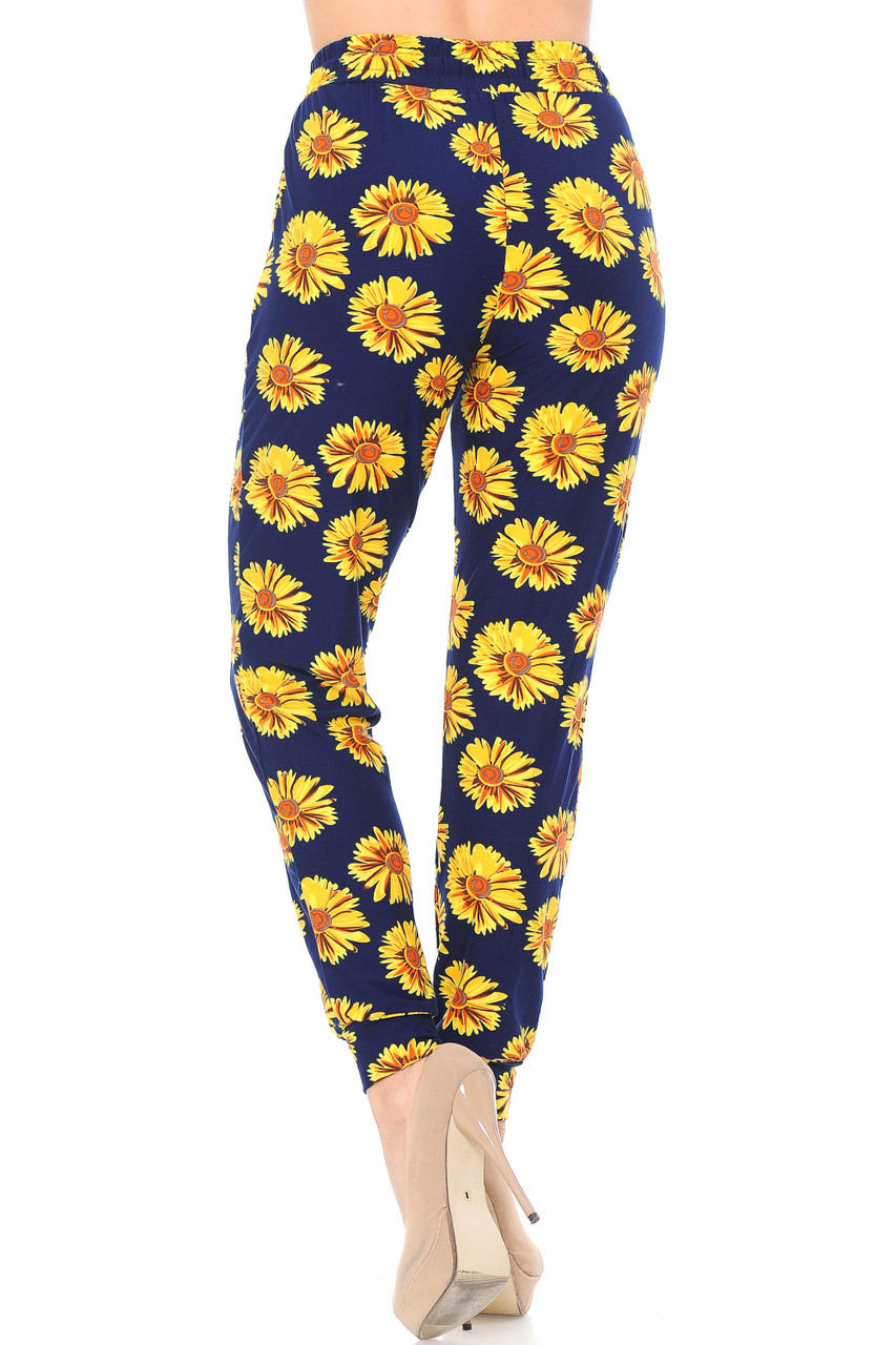 Back view image of Buttery Soft Summer Daisy Joggers
