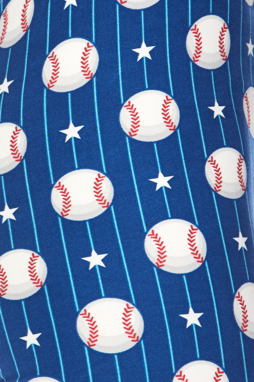 Close up swatch of our Buttery Soft Boys of Summer Baseball Capris
