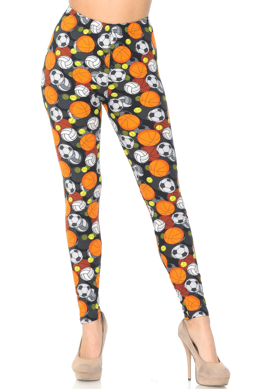 Our Buttery Soft Sports Ball Leggings feature a full length skinny leg cut.