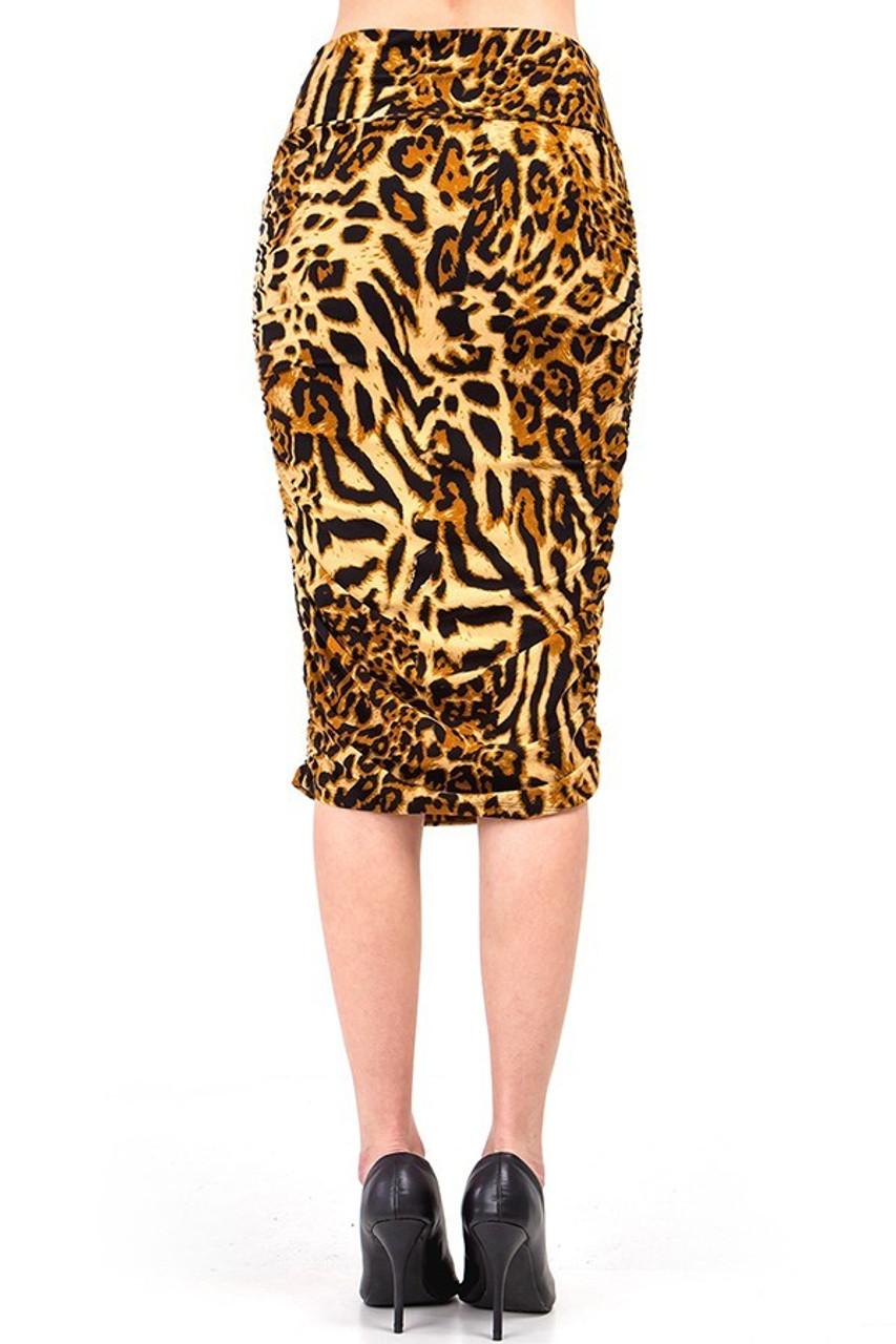 Buttery Soft Predator Leopard Skirt features a comfort fabric waist and a flattering fit.