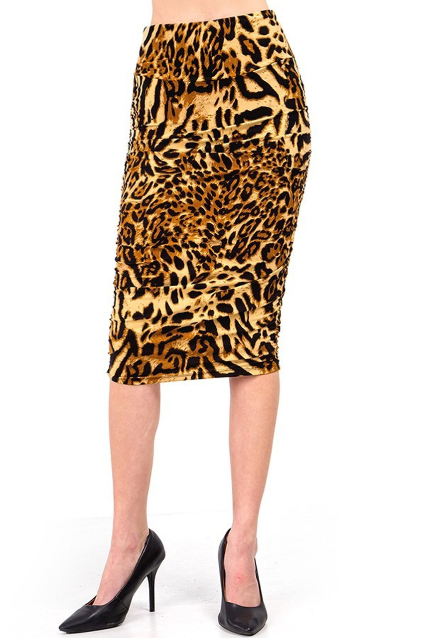 This Buttery Soft Predator Leopard Skirt features a super sassy animal print style, and lends fabulously to both dressy and casual styles.