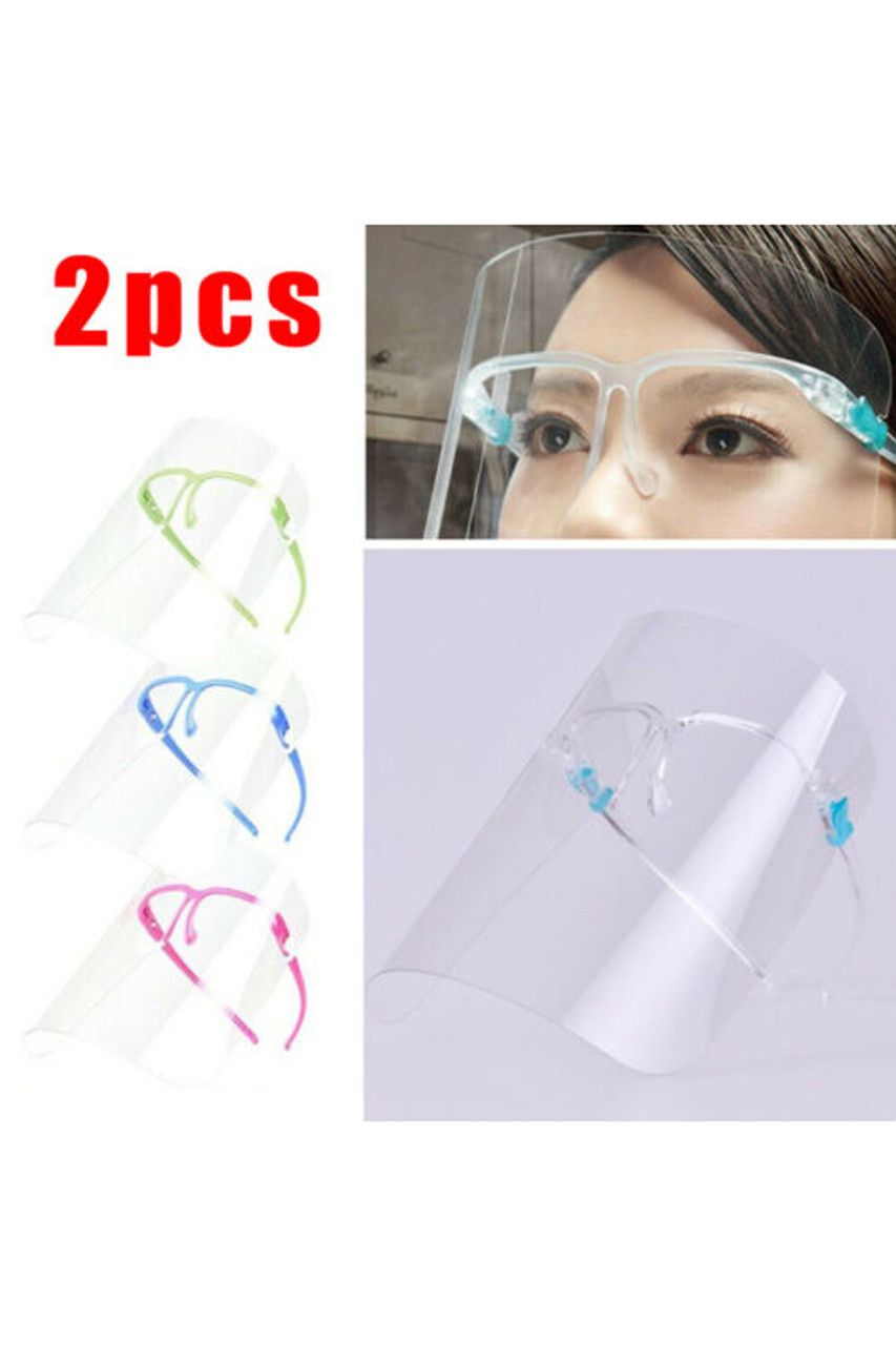 Image showcasing color options  of Detachable Full Transparent Face Shield - Clear Colored Support Glasses