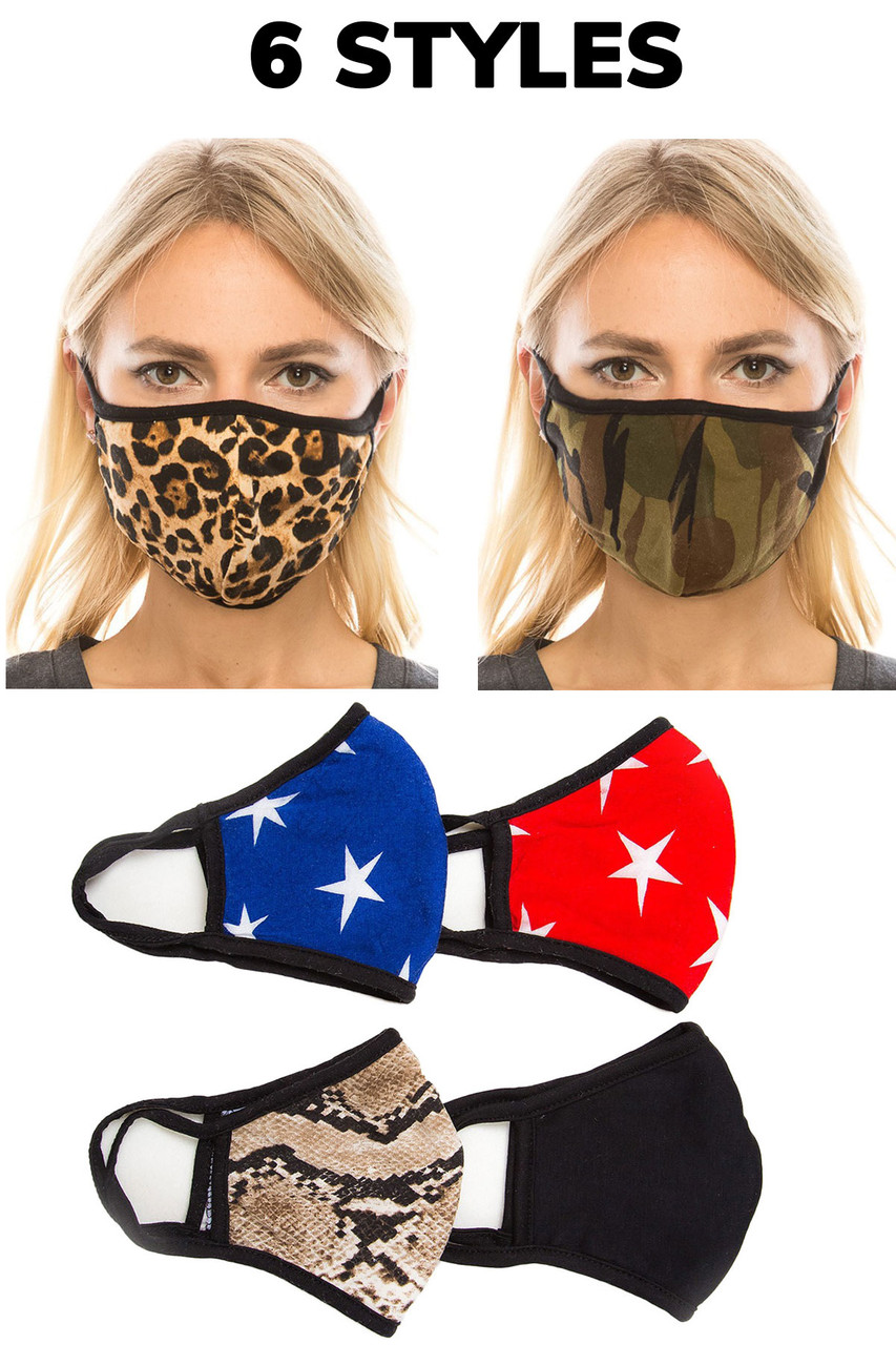 Fashion Face Mask - 2 Layer Polyester Cotton Mix with PM2.5 Pocket - Made in USA