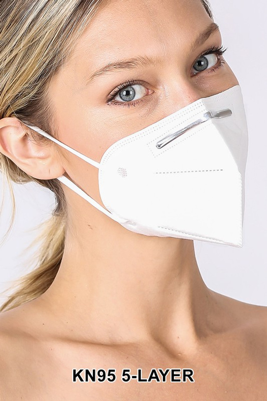 Right side view of 5 Layer Oral Filtration Face Masks - Individually Wrapped