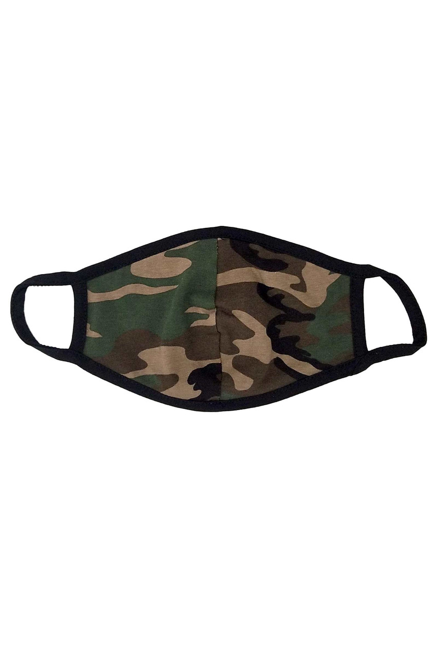 Kid's USA made Camouflage Face Mask with trendy graphic print.