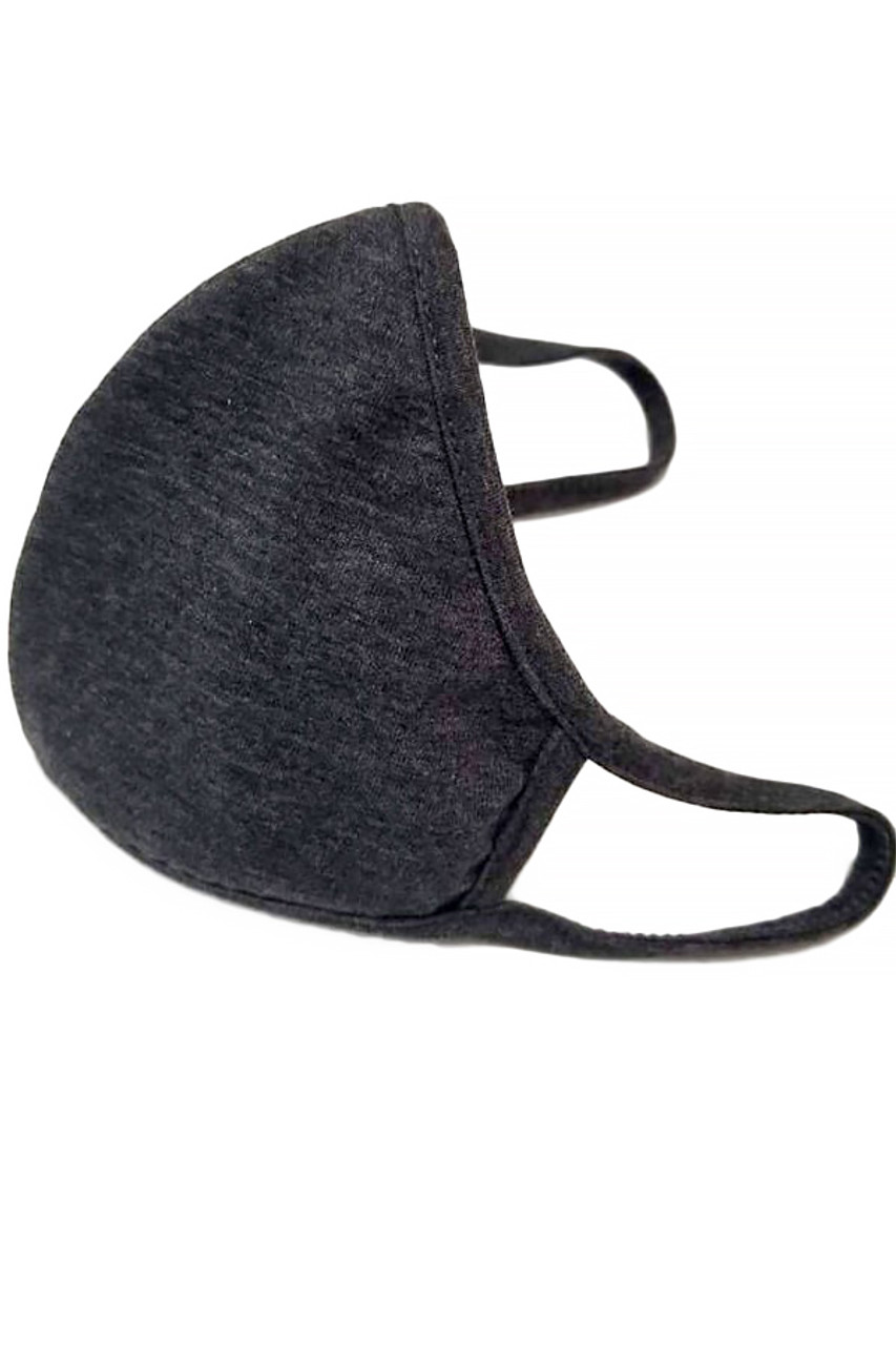 Black Kid's Solid Cotton Face Masks - Made in USA