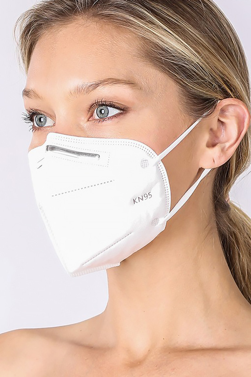 Side view of Oral Air Filtration Face Mask.