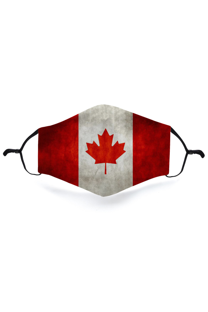 Stand alone image of Canadian Flag Graphic Print Face Mask