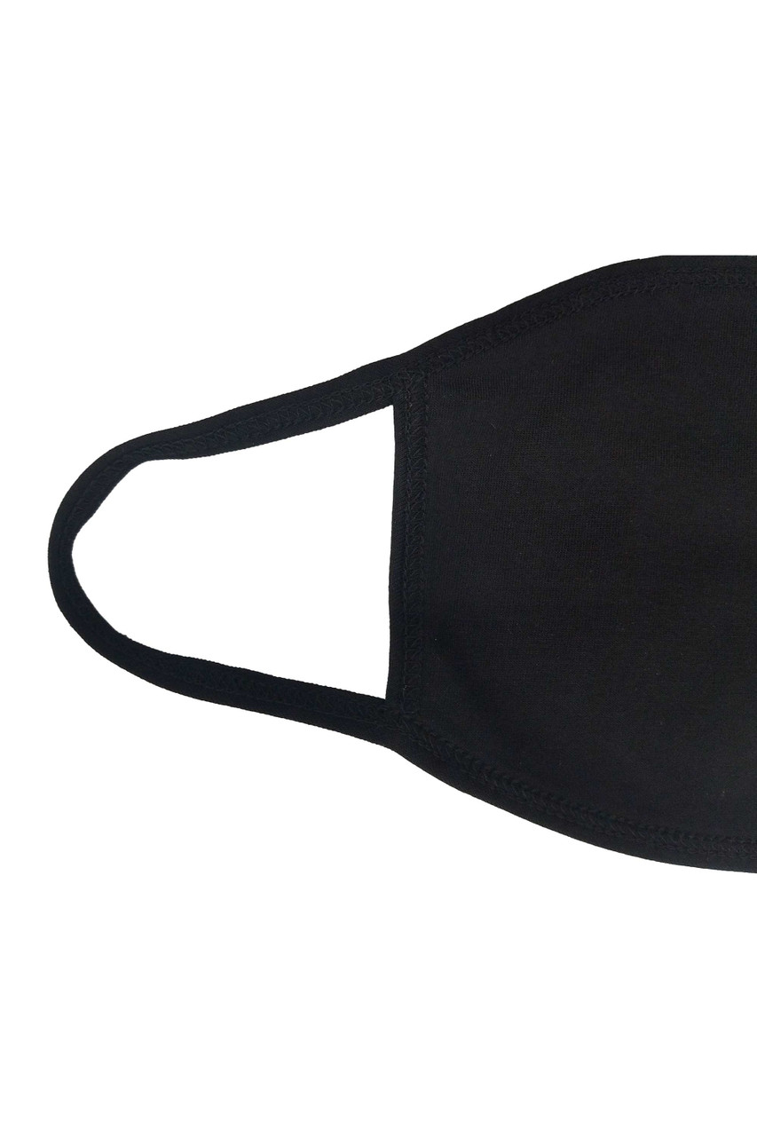 Close up of earloop on Seamless Cotton Face Mask - No Rear Pocket - Made in USA