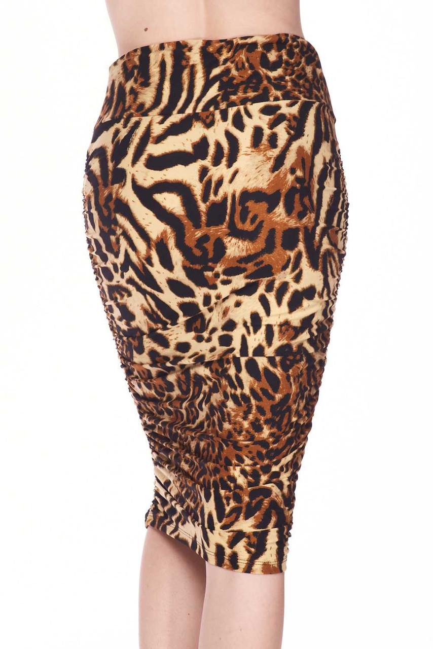 Buttery Soft Predator Leopard Pencil Skirt