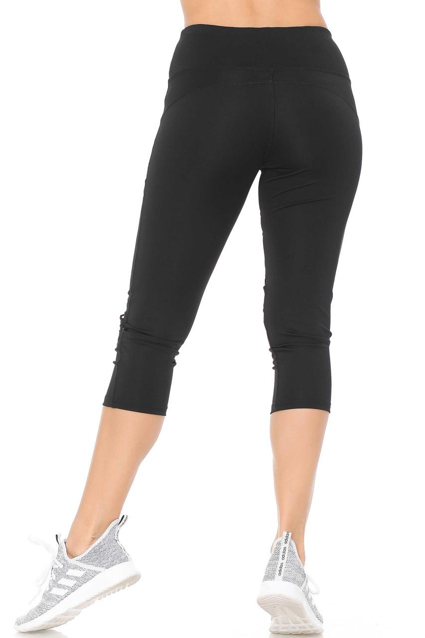 Dual Mesh Patch Women's Workout Capris