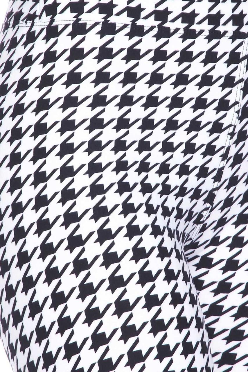 Buttery Soft Houndstooth Biker Shorts - 3 Inch Waist Band