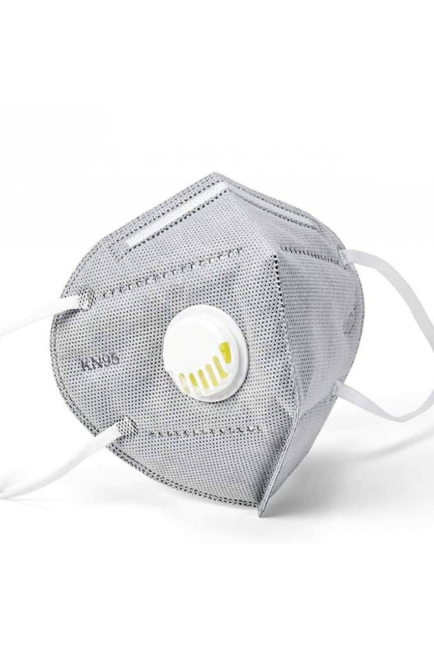 Charcoal KN95 Face Mask with Air Valve - Singles - Individually Wrapped