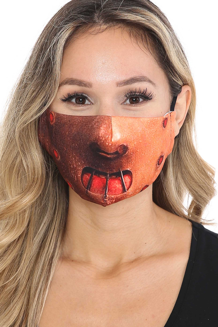 Front view of Hannibal Graphic Print Face Mask