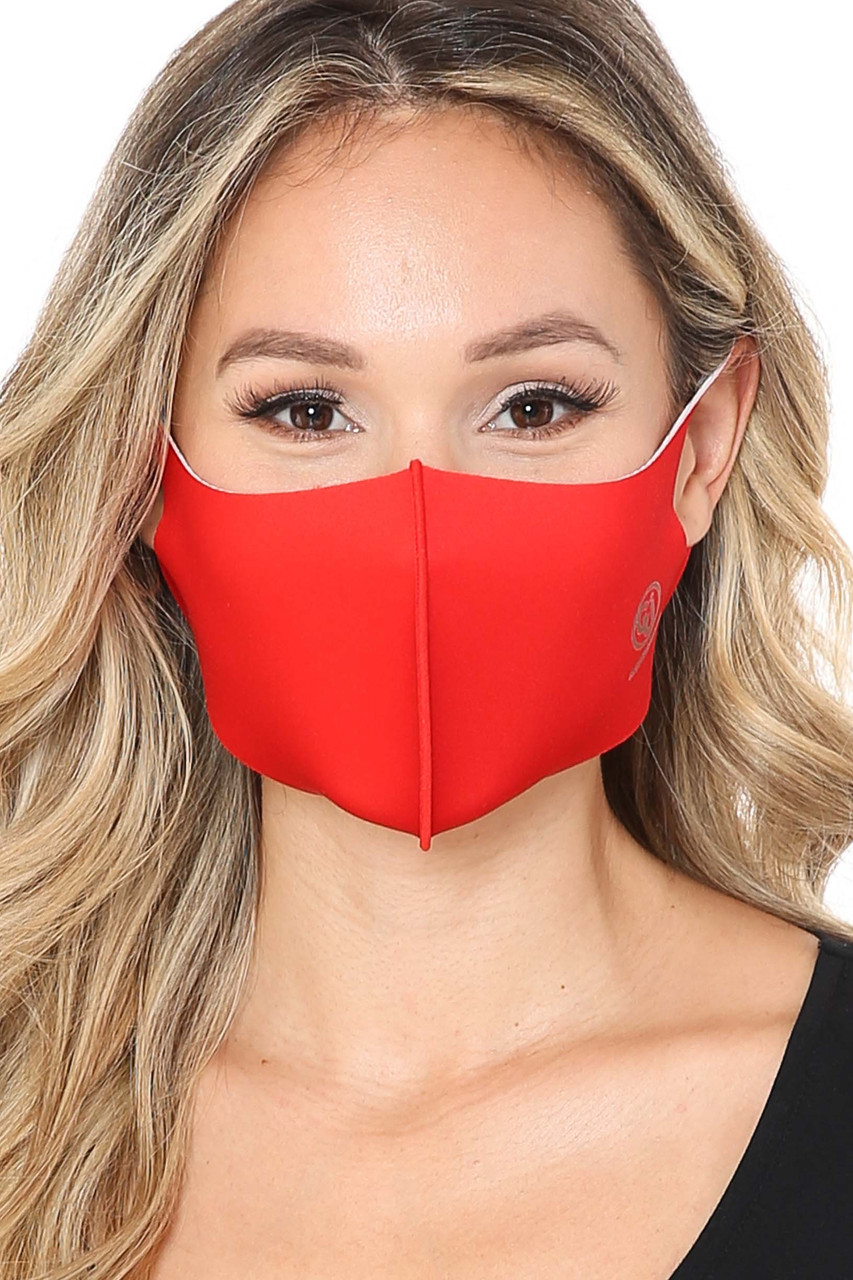 Red Kid's Copper Infused Face Mask - Anti-Microbial