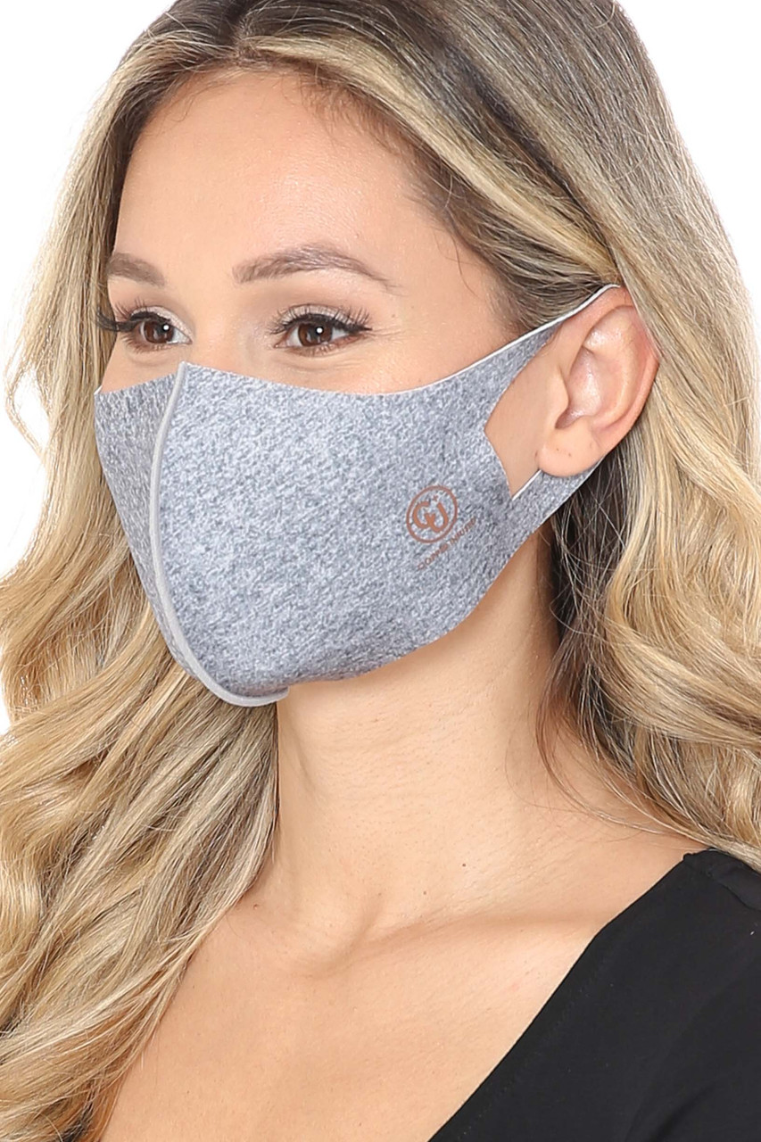 Heather Gray Kid's Copper Infused Face Mask - Anti-Microbial