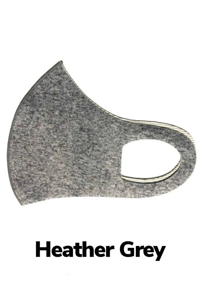 Heather Grey Kid's Copper Infused Face Mask - Anti-Microbial