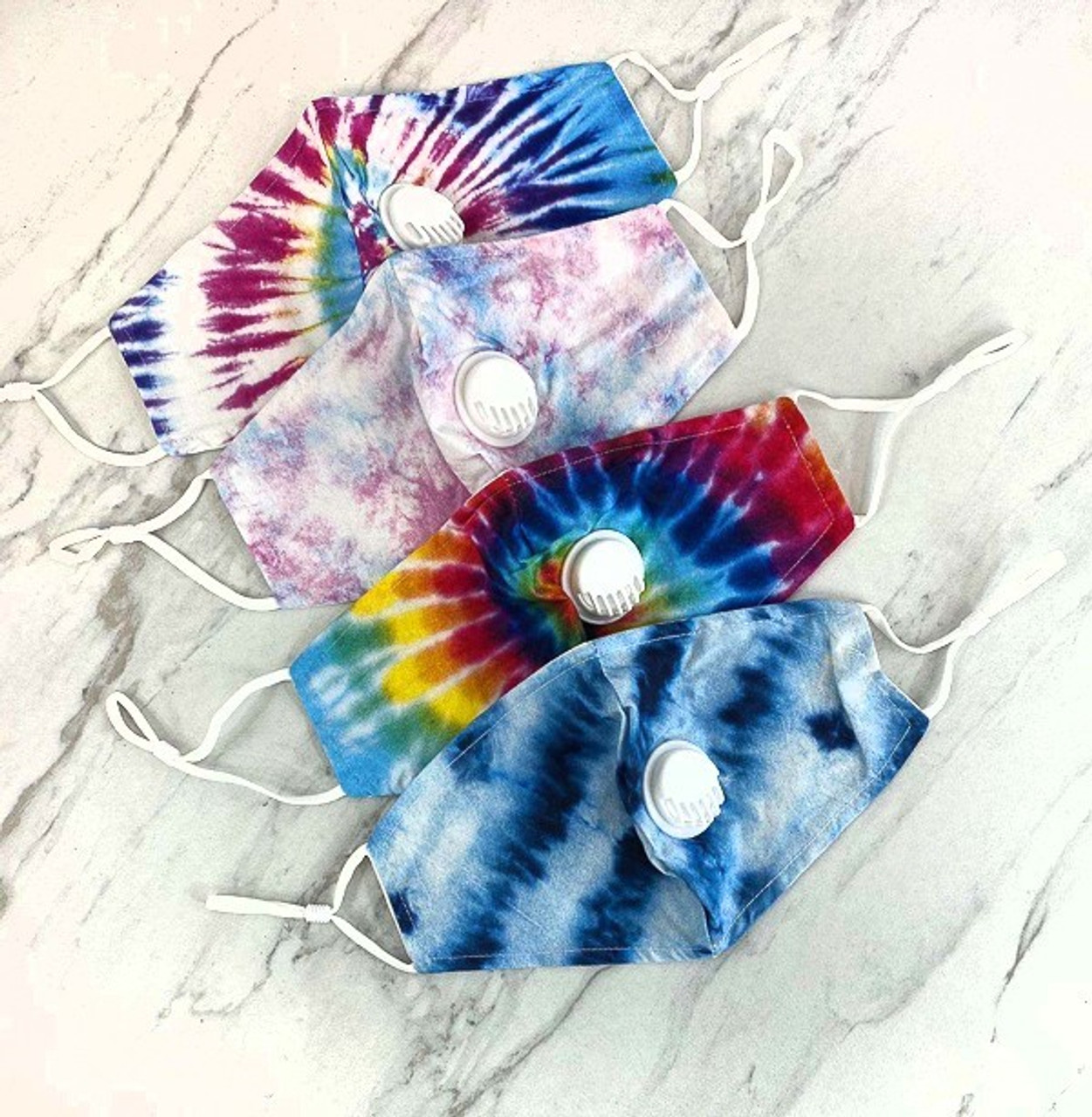 Tie Dye Air Valve Face Mask with Nose Bar